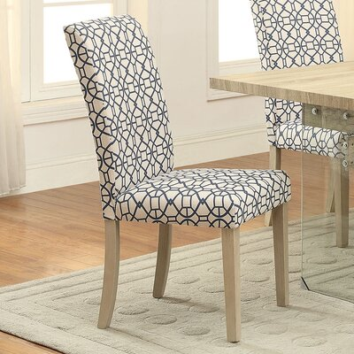 Glassden Side Chair Upholstery: Blue