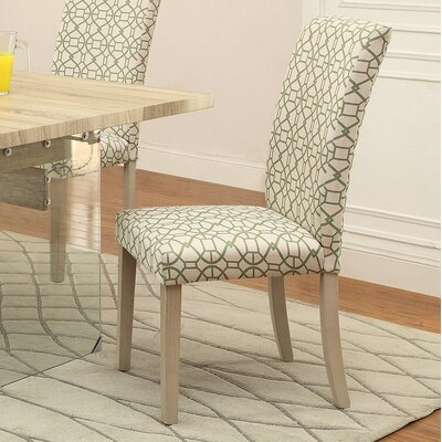 Glassden Side Chair Upholstery: Green