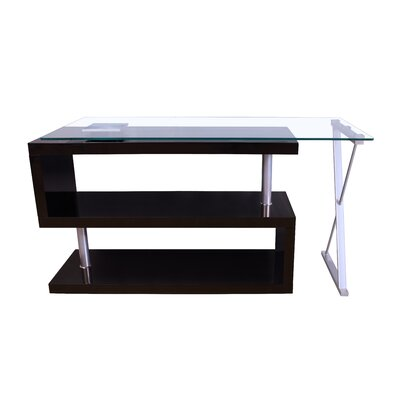 Acme Furniture Buck High Gloss Convertible S-shape Writing Desk