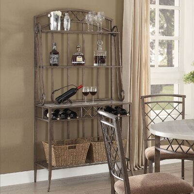 Aldric Faux Marble and Standard Bakers Rack
