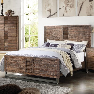 Andria Reclaimed Oak Panel Bed Size: California King