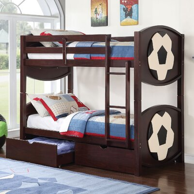 All Star Soccer Twin over Twin Bunk Bed with Storage