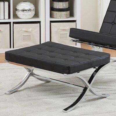 Elian Ottoman Upholstery: Black