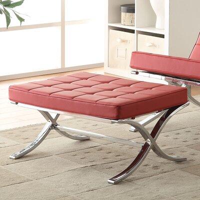 Elian Ottoman Upholstery: Red