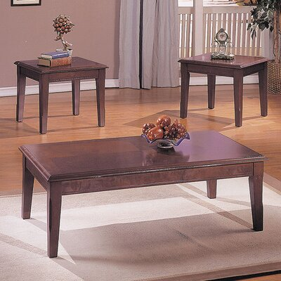 Chester Merlot 3 Piece Coffee Table Set