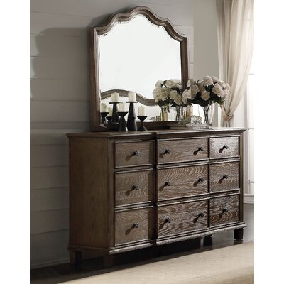 Baudouin 9 Drawer Standard Dresser with Mirror