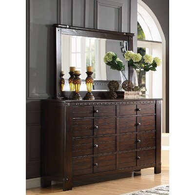 Brooklyn 8 Drawer Standard Dresser with Mirror