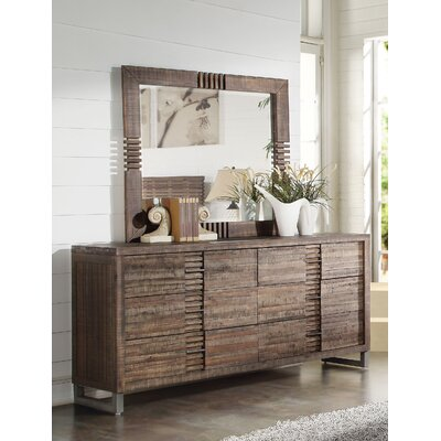 Andria 6 Drawer Standard Dresser with Mirror