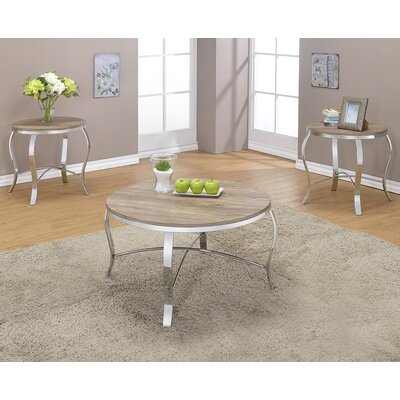 Malai Weathered 3 Piece Coffee Table Set Finish: Light Oak