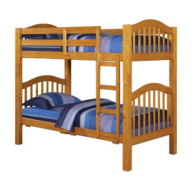 Heartland Twin Over Twin Bunk Bed Finish: Honey Oak