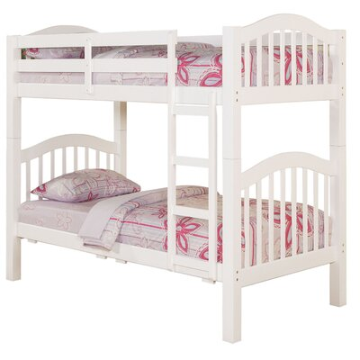 Heartland Twin Over Twin Bunk Bed Finish: White