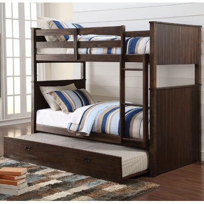 Hector Antique Charcoal Twin Over Twin Bunk Bed