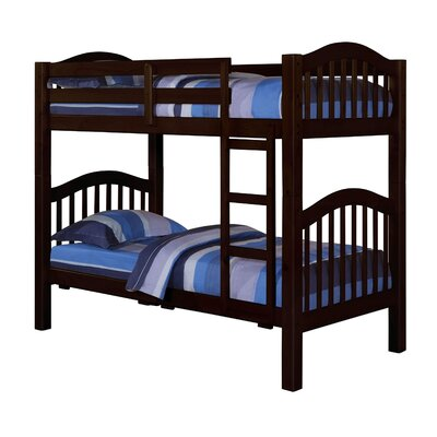 Heartland Twin Over Twin Bunk Bed Finish: Espresso