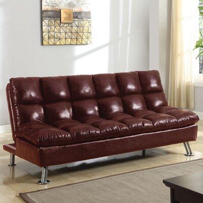 Tayte Reclining Sofa Upholstery: Burgundy