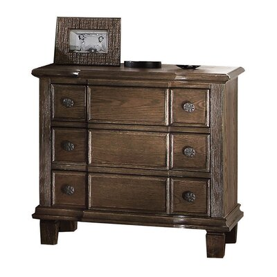 Baudouin Weathered 3 Drawer Nightstand