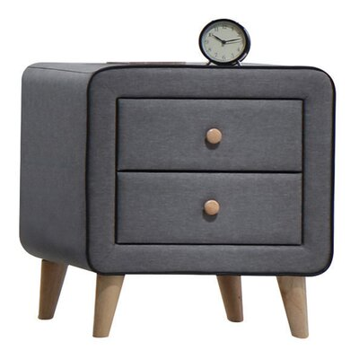 Valda 2 Drawer Nightstand