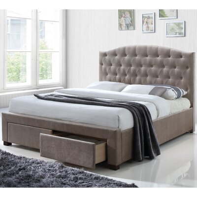 Denise Fabric Storage Upholstered Platform Bed Size: Eastern King