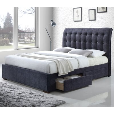Drorit Fabric Storage Upholstered Sleigh Bed Size: Queen