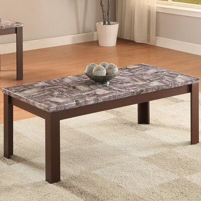 Arabia Faux Marble 2 Piece Coffee Table Set