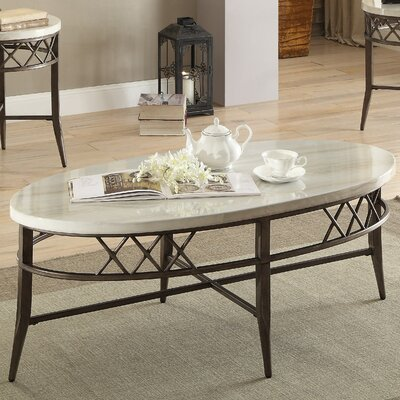Aldric Faux Marble 3 Piece Coffee Table Set