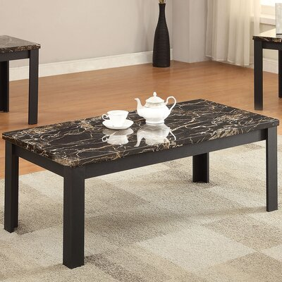 Carly Faux Marble 3 Piece Coffee Table Set