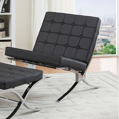 Elian Lounge Chair Upholstery: Black