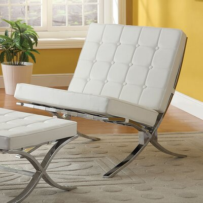 Elian Lounge Chair Upholstery: Ivory