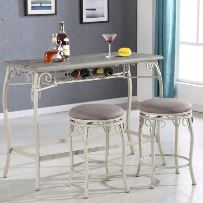 Irmeda 3 Piece Counter Height Dining Set