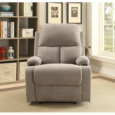 Rosia Manual Recliner Upholstery: Gray