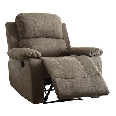 Bina Memory Foam Recliner Upholstery: Gray
