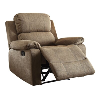 Bina Memory Foam Recliner Upholstery: Taupe