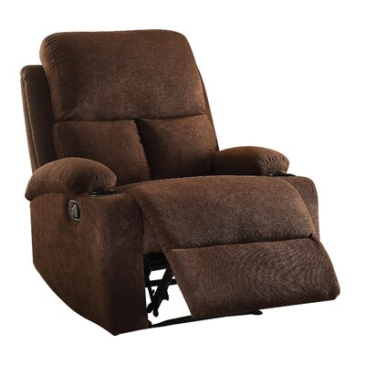 Rosia Recliner Upholstery: Chocolate