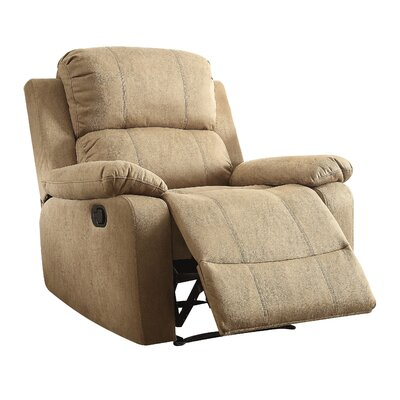 Bina Memory Foam Recliner Upholstery: Light Brown