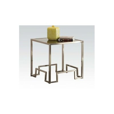 Damien Fabric End Table