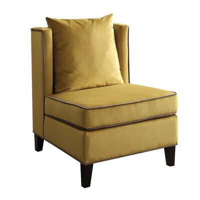 Ozella Slipper Chair Upholstery: Yellow
