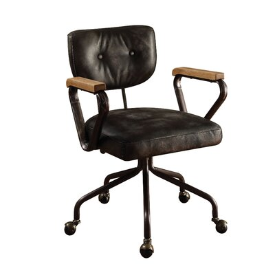 Acme Furniture Hallie Mid-back Leather Executive Chair