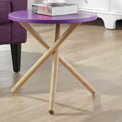 Lanica End Table Color: Purple
