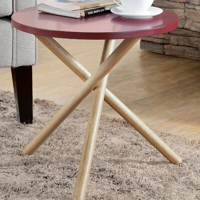 Lanica End Table Color: Burgundy