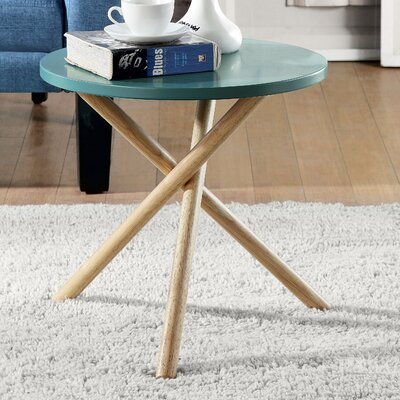 Lanica End Table Finish: Teal