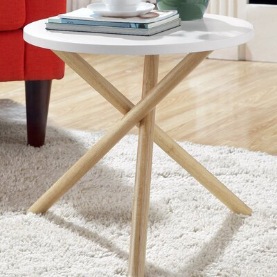 Lanica End Table Finish: White