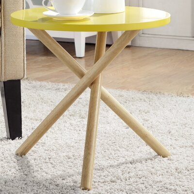 Lanica End Table Finish: Yellow
