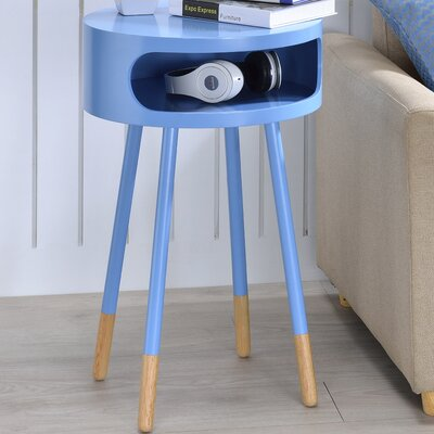Sonria Round End Table Color: Light Blue