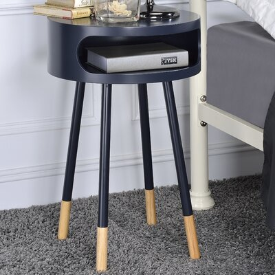 Sonria Round End Table Finish: Black