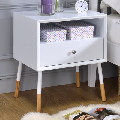 Sonria II End Table Color: White