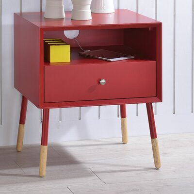 Sonria II End Table Finish: Red
