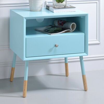 Sonria II End Table Color: Teal