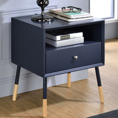 Sonria II End Table Finish: Black