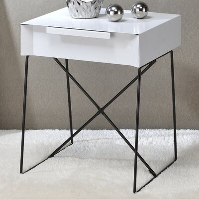 Gualacao End Table Color: White
