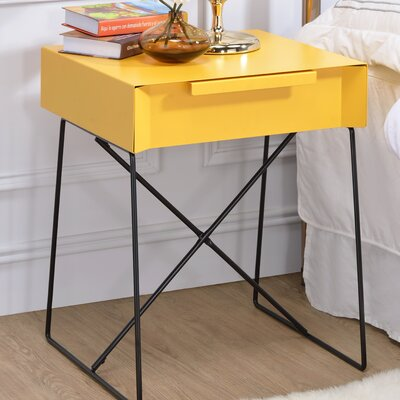 Gualacao End Table Finish: Yellow