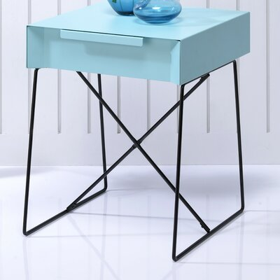 Gualacao End Table Finish: Teal